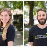 Smiling Active Minds Co-Chairs and Student Wellness Ambassadors Camille Horrigan Slajus and David Atash